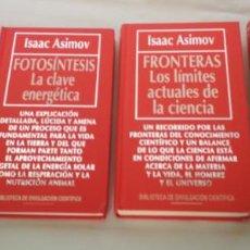 Libros de segunda mano: 4 LIBROS COLECCION BIBLIOTECA DE DIVULGACION CIENTIFICA MUY INTERESANTE, RBA 1994, LIBRO . Lote 142726174