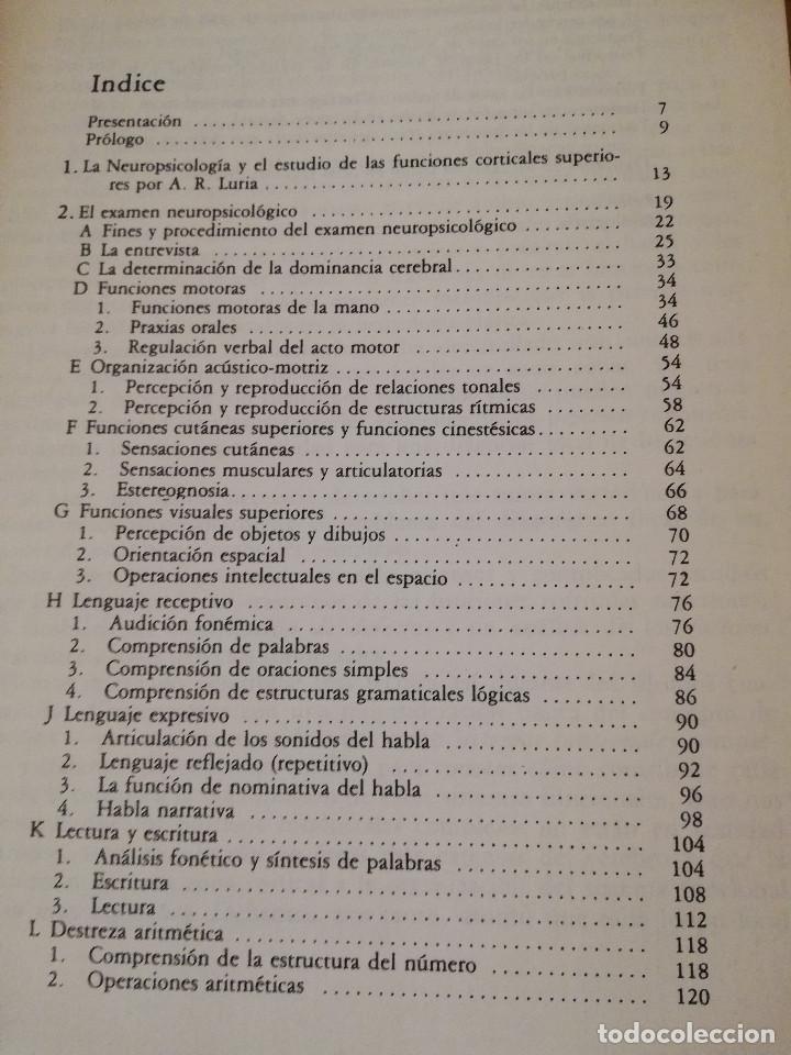 Libros de segunda mano: EL DIAGNOSTICO NEUROPSICOLOGICO DE LURIA (ANNE - LISE CHRISTENSEN) - Foto 3 - 142781682
