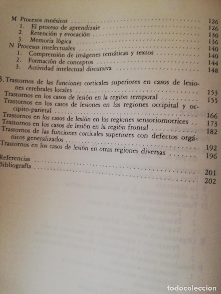Libros de segunda mano: EL DIAGNOSTICO NEUROPSICOLOGICO DE LURIA (ANNE - LISE CHRISTENSEN) - Foto 4 - 142781682