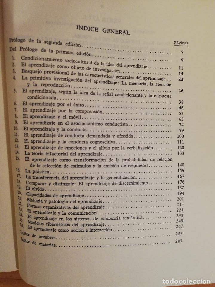 Libros de segunda mano: EL APRENDER. PSICOLOGIA DEL APRENDIZAJE (O. W. HASELOFF Y E. JORSWIECK) ESPASA - CALPE - Foto 3 - 142787234