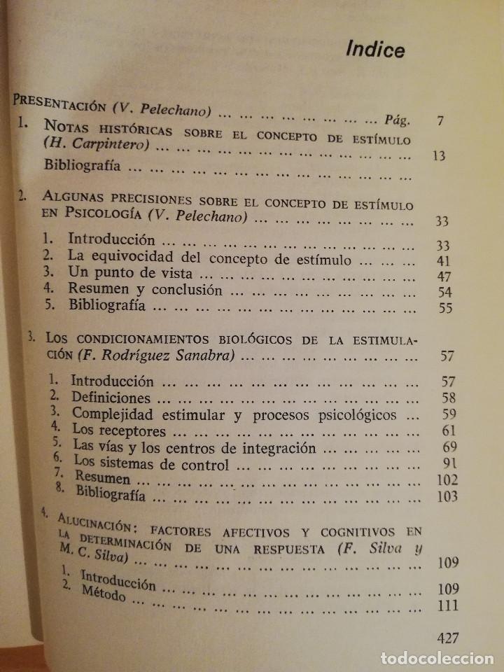 Libros de segunda mano: PSICOLOGIA ESTIMULAR Y MODULACION (VICENTE PELECHANO) EDICIONES MAROVA - Foto 3 - 142788854