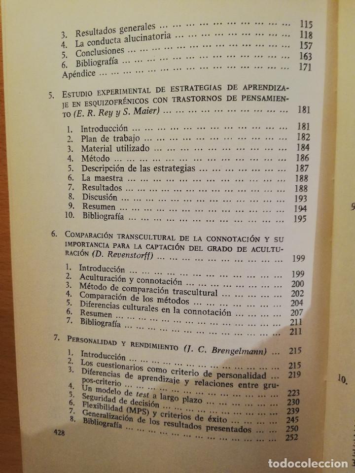 Libros de segunda mano: PSICOLOGIA ESTIMULAR Y MODULACION (VICENTE PELECHANO) EDICIONES MAROVA - Foto 4 - 142788854
