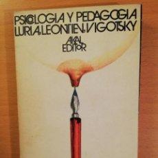 Libros de segunda mano: PSICOLOGIA Y PEDAGOGIA (LURIA / LEONTIEV / VYGOTSKY) AKAL EDITOR. Lote 142789542