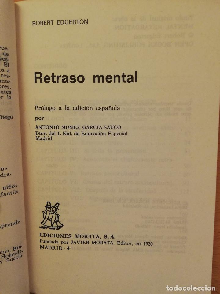 Libros de segunda mano: EL RETRASO MENTAL (R. EDGERTON) - Foto 2 - 142792346