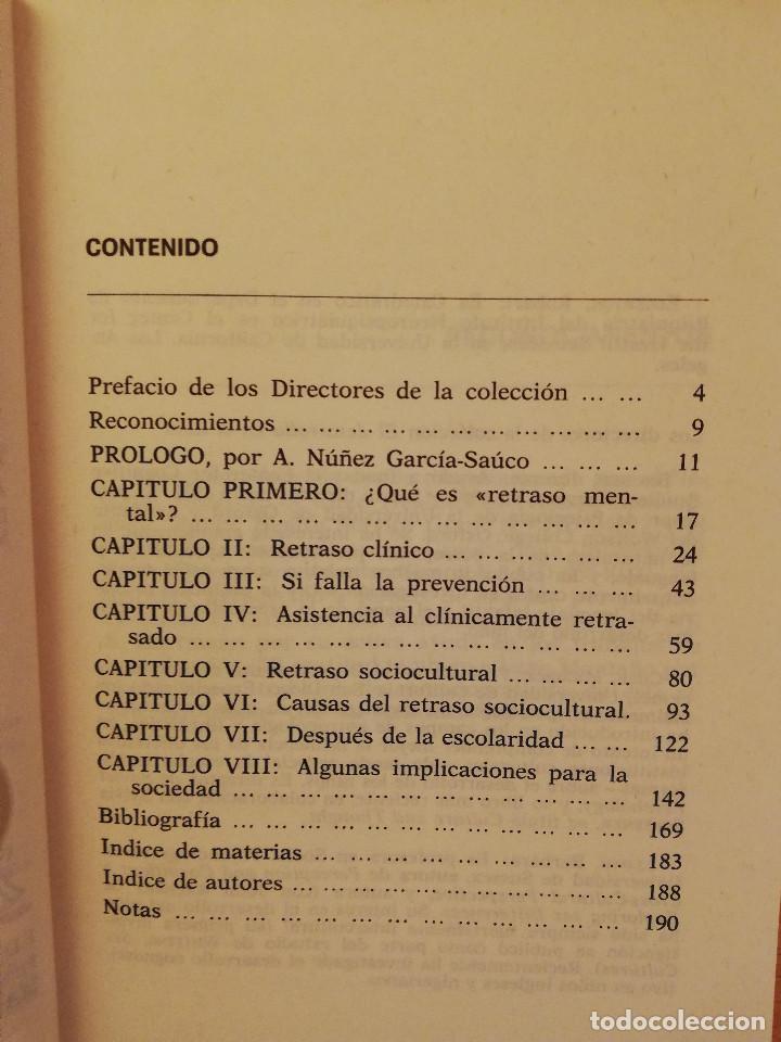 Libros de segunda mano: EL RETRASO MENTAL (R. EDGERTON) - Foto 3 - 142792346