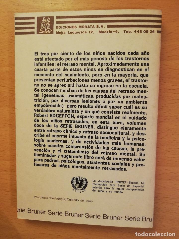 Libros de segunda mano: EL RETRASO MENTAL (R. EDGERTON) - Foto 4 - 142792346