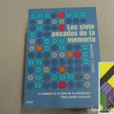 Libros de segunda mano: SCHACTER, DANIEL L.: LOS SIETE PECADOS DE LA MEMORIA (TRAD:JOAN SOLER). Lote 143574686