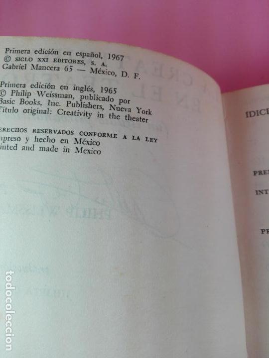 Libros de segunda mano: LIBRO-LA CREATIVIDAD EN EL TEATRO-ESTUDIO PSICOANALÍTICO-PHILIP WEISSMAN-SIGLO XXI-1967-1ªEDICIÓN - Foto 3 - 180176796