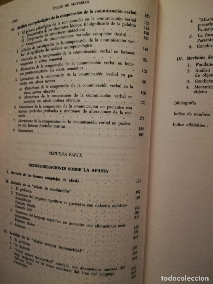 Libros de segunda mano: FUNDAMENTOS DE NEUROLINGÜÍSTICA (A. R. LURIA) TORAY - MASSON - Foto 5 - 171576777