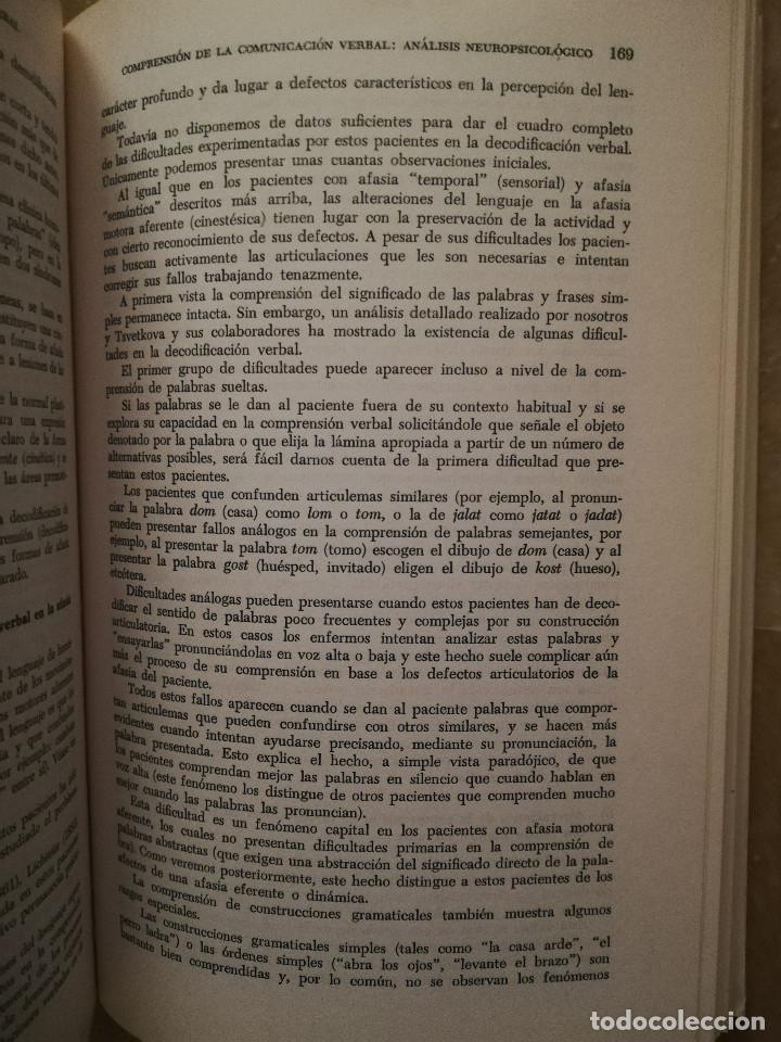 Libros de segunda mano: FUNDAMENTOS DE NEUROLINGÜÍSTICA (A. R. LURIA) TORAY - MASSON - Foto 8 - 171576777