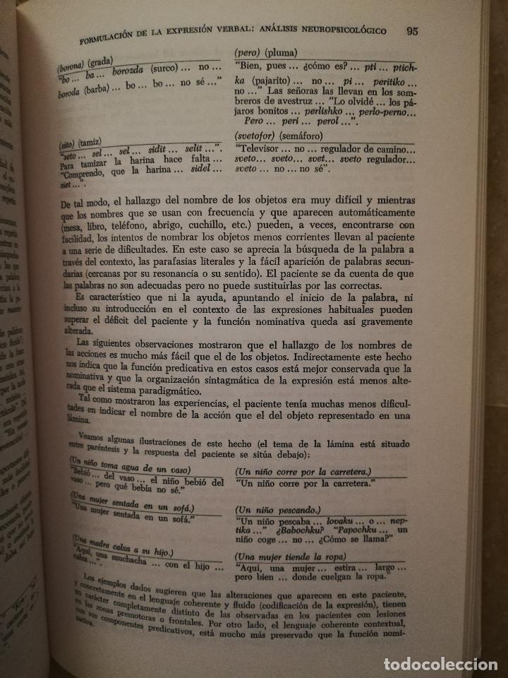 Libros de segunda mano: FUNDAMENTOS DE NEUROLINGÜÍSTICA (A. R. LURIA) TORAY - MASSON - Foto 9 - 171576777