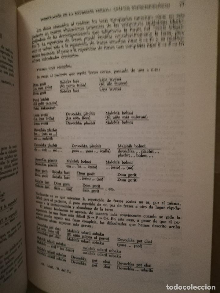 Libros de segunda mano: FUNDAMENTOS DE NEUROLINGÜÍSTICA (A. R. LURIA) TORAY - MASSON - Foto 10 - 171576777