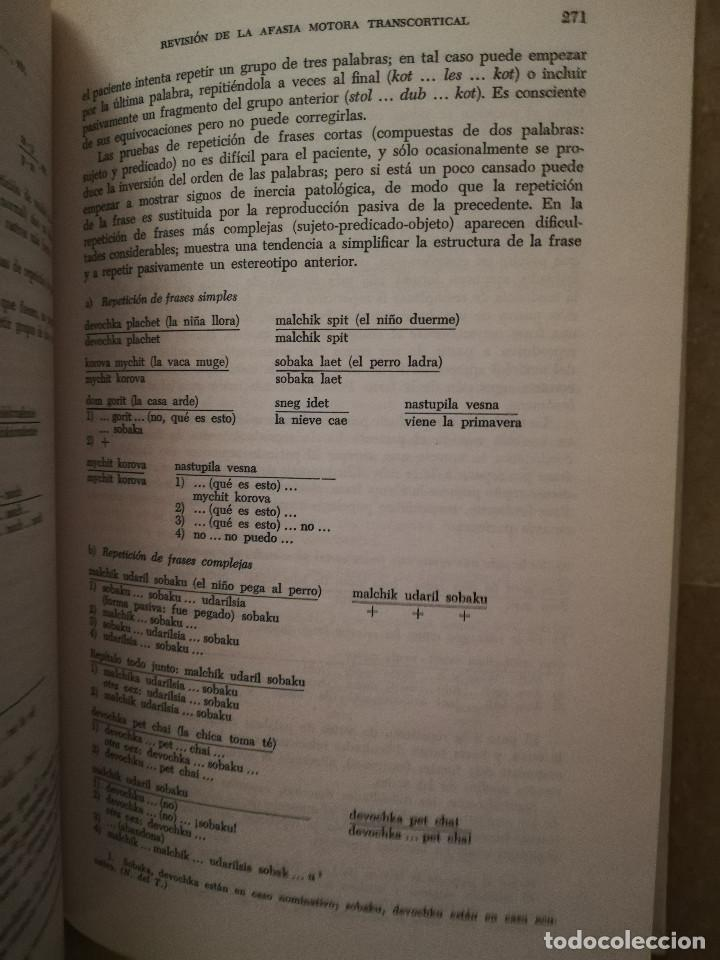 Libros de segunda mano: FUNDAMENTOS DE NEUROLINGÜÍSTICA (A. R. LURIA) TORAY - MASSON - Foto 12 - 171576777