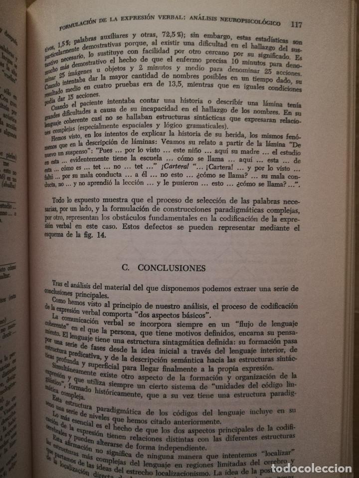 Libros de segunda mano: FUNDAMENTOS DE NEUROLINGÜÍSTICA (A. R. LURIA) TORAY - MASSON - Foto 13 - 171576777