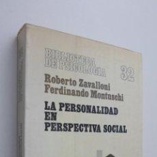 Libros de segunda mano - LA PERSONALIDAD EN PERSPECTIVA SOCIAL - ZAVALLONI, ROBERTO - 145724613