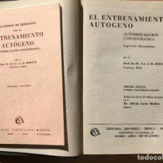 Libros de segunda mano: EL ENTRENAMIENTO AUTÓGENO. AUTORRELAJACIÓN CONCENTRATIVA. J.H. SCHULTZ. 3ª EDICIÓN. . Lote 146231714