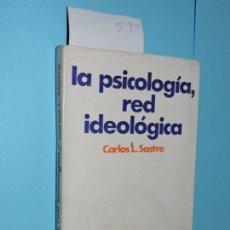 Libros de segunda mano: LA PSICOLOGÍA, RED IDEOLÓGICA. SASTRE, CARLOS L. ED. TIEMPO CONTEMPORÁNEO. BUENOS AIRES 1974. Lote 146519710