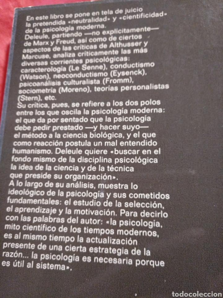 Libros de segunda mano: La psicología, mito científico de Didier Deleule - Foto 2 - 147728186