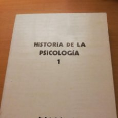 Libros de segunda mano: HISTORIA DE LA PSICOLOGÍA I (1ª PARTE) DR. ANTONIO CAPARRÓS. Lote 147739482