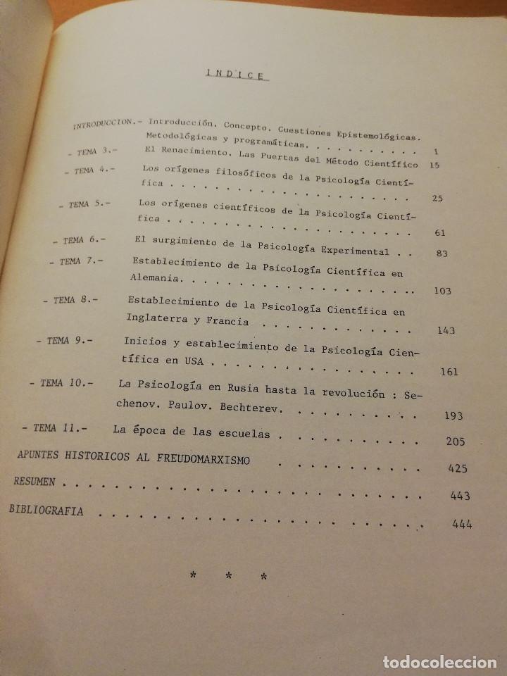 Libros de segunda mano: HISTORIA DE LA PSICOLOGÍA I (1ª PARTE) DR. ANTONIO CAPARRÓS - Foto 2 - 147739482