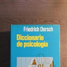 Libros de segunda mano: DICCIONARIO DE PSICOLOGIA. Lote 147745262