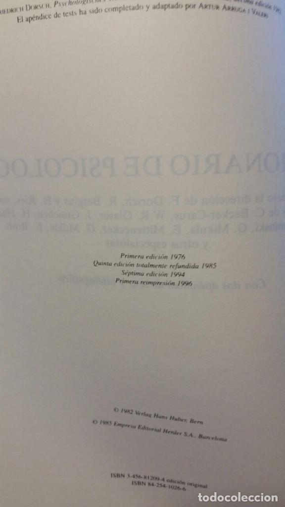 Libros de segunda mano: DICCIONARIO DE PSICOLOGIA - Foto 7 - 147745262