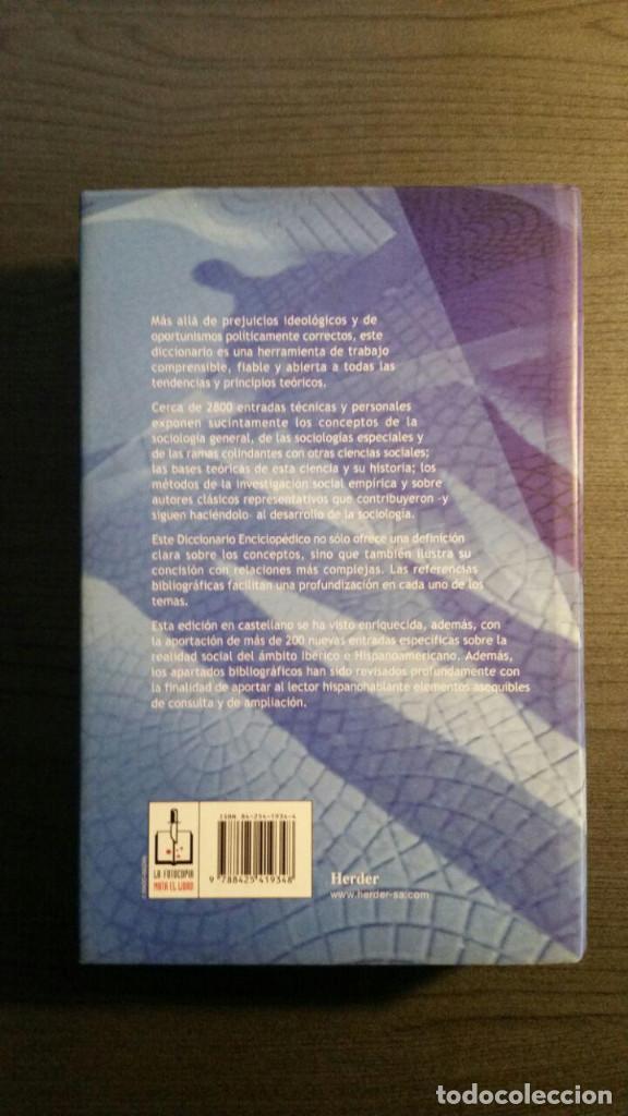 Libros de segunda mano: Diccionario enciclopédico de sociología - Foto 4 - 147745786