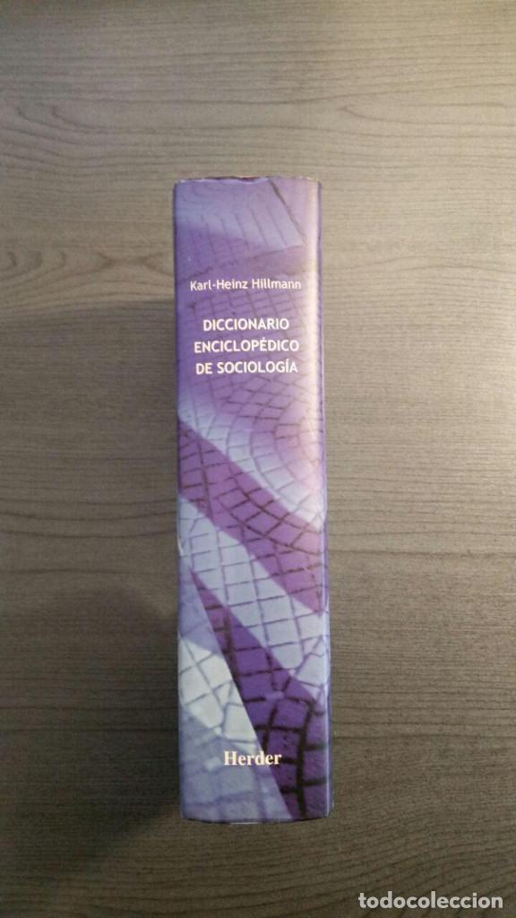 Libros de segunda mano: Diccionario enciclopédico de sociología - Foto 6 - 147745786