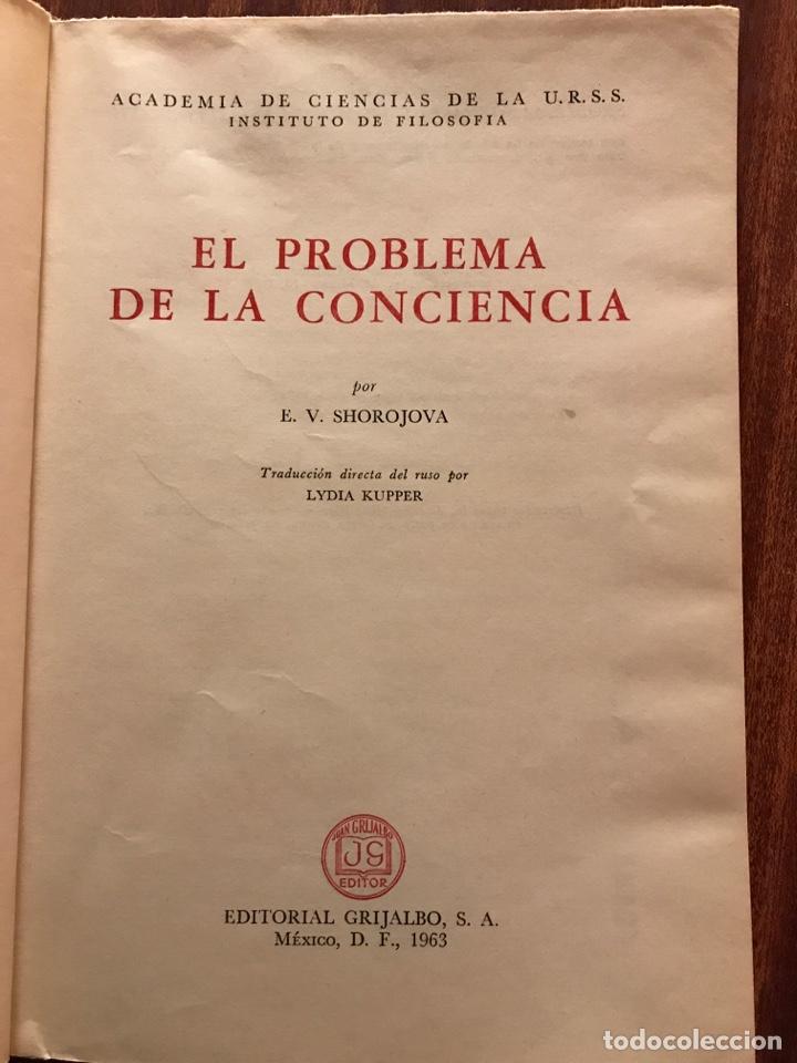 Libros de segunda mano: El problema de la conciencia, E. V. Shorojova - Foto 2 - 147751493