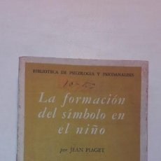 Libros de segunda mano: LA FORMACIÓN DEL SÍMBOLO EN EL NIÑO - JEAN PIAGET FONDO DE CULTURA ECONÓMICA 1961 1ª EDICIÓN MÉXICO. Lote 147825802