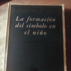 Libros de segunda mano: LA FORMACIÓN DEL SÍMBOLO EN EL NIÑO, PIAGET, 1966. Lote 148380370