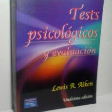 Libros de segunda mano: TESTS PSICOLÓGICOS Y EVALUACIÓN. AIKEN LEWIS R. 2003. Lote 149674278