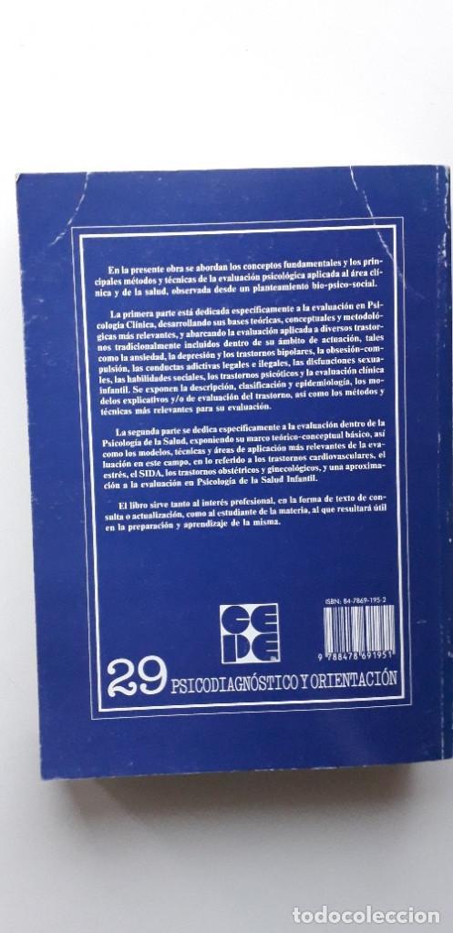 Libros de segunda mano: EVALUACION EN PSICOLOGIA CLINICA Y DE LA SALUD - ALFONSO ROA ALVARO - Foto 3 - 150123070