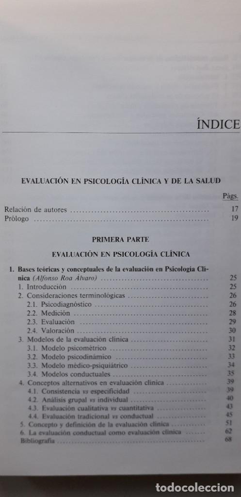 Libros de segunda mano: EVALUACION EN PSICOLOGIA CLINICA Y DE LA SALUD - ALFONSO ROA ALVARO - Foto 5 - 150123070