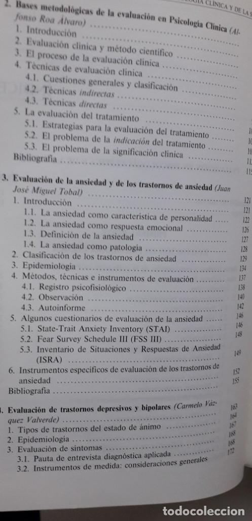 Libros de segunda mano: EVALUACION EN PSICOLOGIA CLINICA Y DE LA SALUD - ALFONSO ROA ALVARO - Foto 6 - 150123070