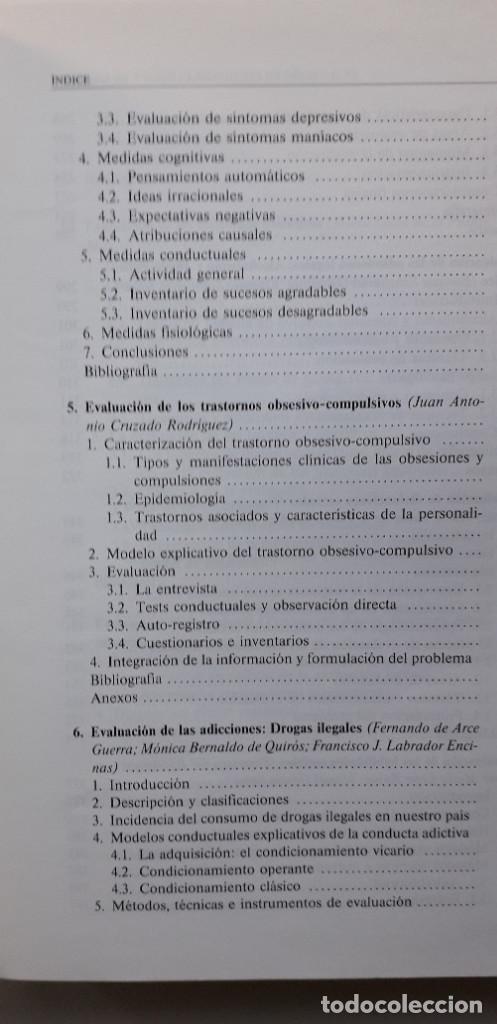Libros de segunda mano: EVALUACION EN PSICOLOGIA CLINICA Y DE LA SALUD - ALFONSO ROA ALVARO - Foto 7 - 150123070
