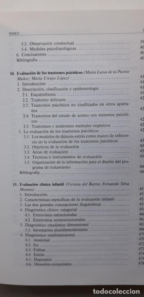 Libros de segunda mano: EVALUACION EN PSICOLOGIA CLINICA Y DE LA SALUD - ALFONSO ROA ALVARO - Foto 9 - 150123070