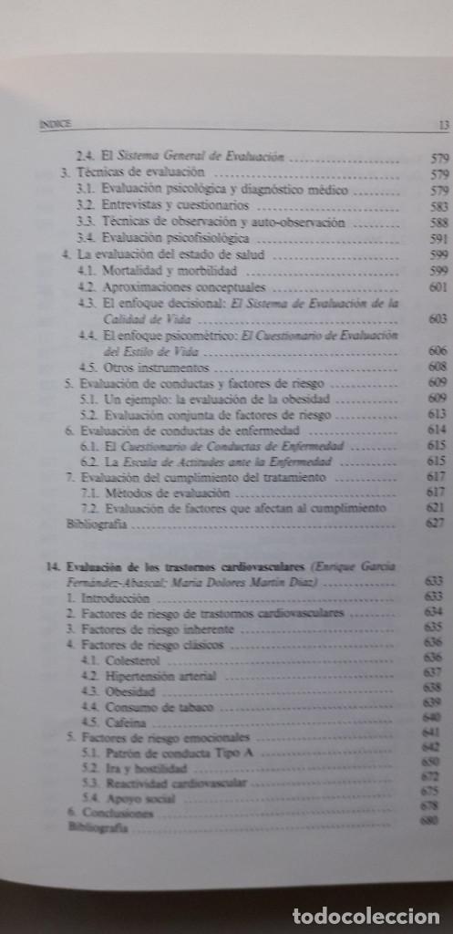 Libros de segunda mano: EVALUACION EN PSICOLOGIA CLINICA Y DE LA SALUD - ALFONSO ROA ALVARO - Foto 11 - 150123070