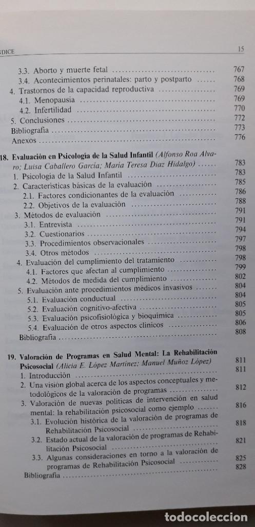 Libros de segunda mano: EVALUACION EN PSICOLOGIA CLINICA Y DE LA SALUD - ALFONSO ROA ALVARO - Foto 13 - 150123070