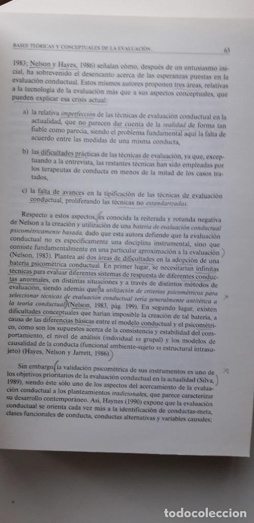 Libros de segunda mano: EVALUACION EN PSICOLOGIA CLINICA Y DE LA SALUD - ALFONSO ROA ALVARO - Foto 14 - 150123070