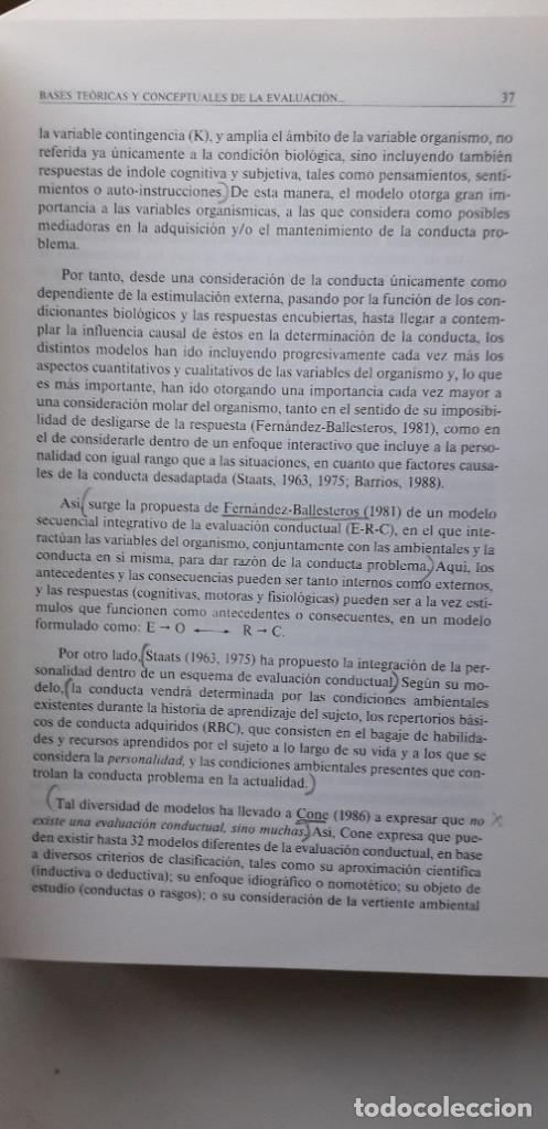 Libros de segunda mano: EVALUACION EN PSICOLOGIA CLINICA Y DE LA SALUD - ALFONSO ROA ALVARO - Foto 15 - 150123070