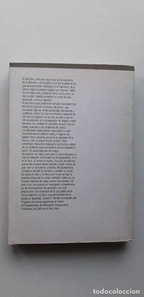 Libros de segunda mano: PERSPECTIVAS DE LA CIENCIA COGNITIVA - DONALD A. NORMAN - Foto 3 - 150237778