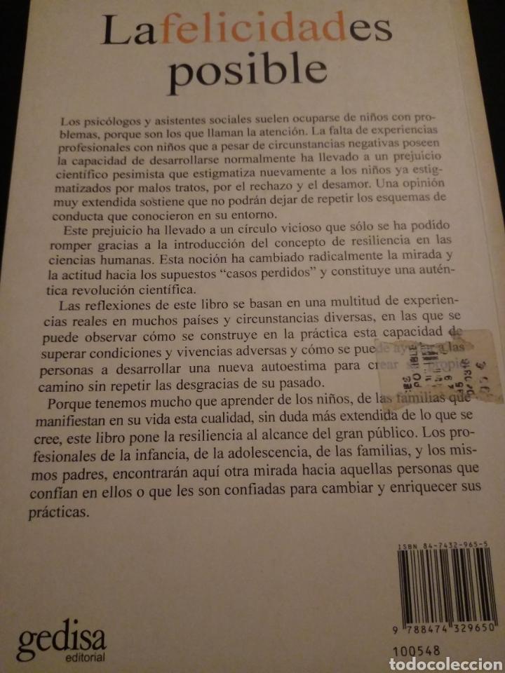 Libros de segunda mano: La felicidad es posible. Resiliencia. Stefan Vanistendael, Jacques Lecomte - Foto 2 - 150590598