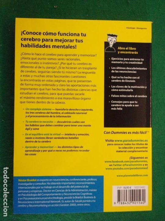 Libros de segunda mano: COMO FUNCIONA TU CEREBRO PARA DUMMIES / Néstor Braidot / 2014 - Foto 3 - 151299202
