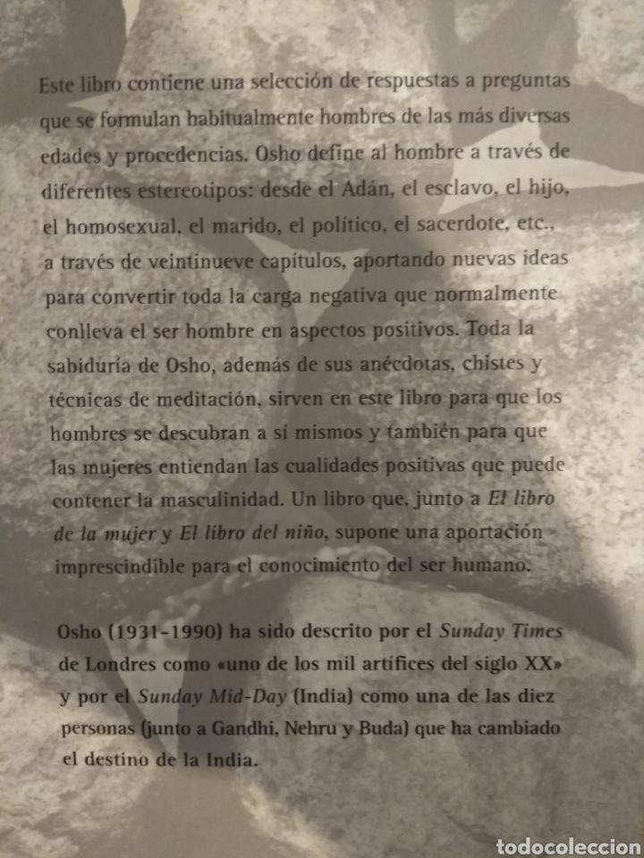Libros de segunda mano: El libro del hombre. Osho. - Foto 2 - 151317777