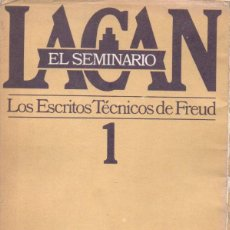 Libros de segunda mano: LACAN : EL SEMINARIO 1 - LOS ESCRITOS TÉCNICOS DE FREUD (PAIDÓS, 1990). Lote 151564130