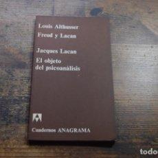 Libros de segunda mano: FREUD Y LAVAN (LOUIS ALTHUSER), EL OBJETO DEL PSICOANALISIS, JACQUES LACAN, ANAGRAMA, 1970. Lote 151702782