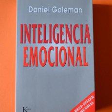 Libros de segunda mano: INTELIGENCIA EMOCIONAL - DANIEL GOLEMAN - KAIROS - 2000. Lote 151836222