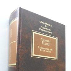 Libros de segunda mano: LA INTERPRETACIÓN DE LOS SUEÑOS - FREUD, SIGMUND. Lote 151841781