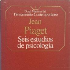 Libros de segunda mano: SEIS ESTUDIOS DE PSICOLOGÍA. J. PIAGET. Lote 151904558